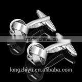 Stamping shining nickel high end silk knot cufflinks