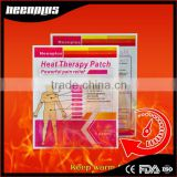 New design women dysmenorrhea menstrual cramps heat patch pain relief patch