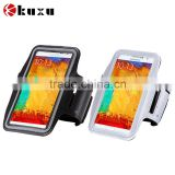 For jogging sport assistant PU leather arm band case for galaxy note series mobile phone