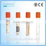 Clot Activator vacuum blood collection tube (high quality vacutainer)