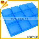 12 Bar Square Silicone soap Molds