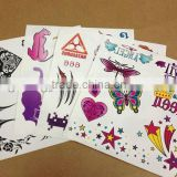 Customized lovely designs temporary tattoo supply for women