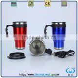 16 Oz 12V Electric Heated Mug, Cup Warmer, USB Heated Coffee Mug, 12 Volt Electric Heated Travel Mug / Car Mug / Auto Mug