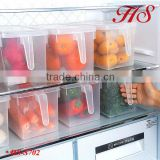 Eco-friendly feature the referigetator crisper plasetic fridge storage box organizer box with cover
