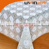 customized printed pattern pvc tablecloth lace table cover