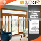 Modern exterior oak wood life sliding door by windows and doors factory                                                                                                         Supplier's Choice