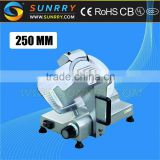 Meat slicer bade diameter 250 mm frozen meat slicer is chinese blade hand meat slicer for CE (SY-MS250A SUNRRY)