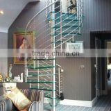 Bespoke glass tread stainless steel fence spiral staircase                                                                         Quality Choice