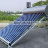 Vacuum Tube Low Pressure Domestic Use Stainless Steel Solar Energy Heaters with Assistant Tank