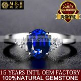 Factory wholesale Natural sapphire Ring girl Sri Lanka 18 carat gold inlaid color treasure