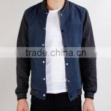 wholesale custom men plus size varsity baseball jackets blank denim baseball jackets men varsity