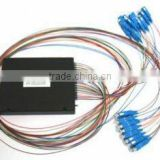 1 * 8 PLC Fiber Optic Splitter, ABS Package, 0.9mm cable,Low Polarization Dependent Loss