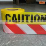 "Red/White color PE Warning Tape of 1000' x 3"" in color box packing"