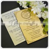 Best feature hot sale mirror acrylic invitation