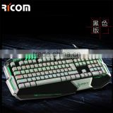 10 years factory direct LED light gaming computer keyboard and mouse--LK617--Shenzhen Ricom