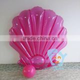 wholesale 180cm PVC giant pink inflatable seashell pool float