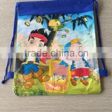 Disposable plastic cute drawstring backpack bag with free sample for testing