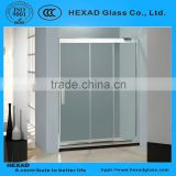 Straight Line linkage Shower Room (1 fixed glass + 2 sliding glass)// PERSONAL CUSTOMIZE//HEXAD GLASS &HEXAD INDUSTRIES