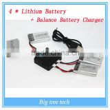 2016 Quadcopter High Rate RC Airplane Li-po Battery for RC model 4*Lithium Battery + Balance Battery Charger