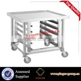 stainless steel tray rack bakery trolley covered