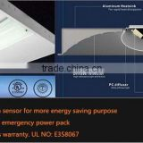 UL DLC 100lm/W smart led troffer light with emergency battery