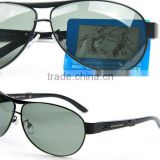 Clear plastic polarized contact lens and polarized sunglasses clear len