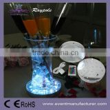 Crystal candelabra under vase mirror base 6 inch LED centerpiece light for wedding/party/event decor