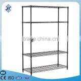 5 tier High quality DIY painted Gloss black color multi-display cube Shelf
