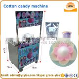 Industrial flower gas cotton candy machine used for mobile vendors