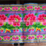 High quality ethnic rose embroidery fabrice wholesale fabric china factory price polyester cotton fabric