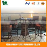 China popular garden furniture wicker Happy Lives vintage patio bistro set