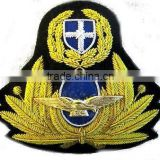 Greek air force, pilot hat / cap Bullion wire blazer badges
