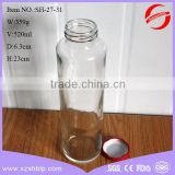 500ml ice cold tea glass bottle with 43mm lug cap