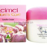 Leimei (Nature's Care) Lanolin Cream with Sheep Placenta 100g (soft smooth skin) - Made in Australia Lei Mei