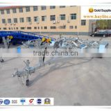 Galvanized stainless steel small or long boat trailer with roller
