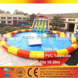Inflatable Water Park Combo Tinfla 30 in PVC Tarpaulin Pool Iceberg Saturn