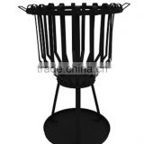 Steel fire basket camping brazier