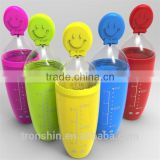 Hot Sale Eco-friendly Food Safe Pefect for Travelling Silicone Baby Feeder with dispensing spoon