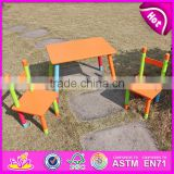 2015 Garden sets table and chair for kids,wooden toy table and chair for children,High quality table and chair for baby WO8G086