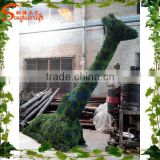 2015 Wholesale factory customized artificial grass animal topiary animal for landscaping