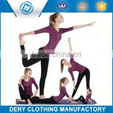 Professional lycra bamboo yoga pants with soft spandex yarn