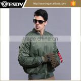 3colors Men Outdoor Both Sides Wear Men's Warm Coat Hunting Camping Waterproof Bomber Jacket