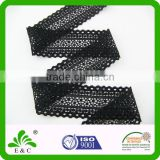 Hot Sell Sexy Black Trimming Lace for Ladies' Underwear Elastic Lace