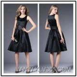 Black Simple Design Women Sleeveless Party Dress