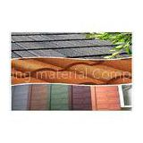 Arc / Classic Rainbow Lightweight Metal Roofing Tiles / Stone Coated Steel Roof Tile