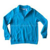CVC70/30 Woman Half Zipper Sweatshirt