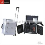 Golden Aluminum frame edging salon beauty case wholesale