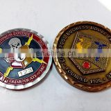 Zinc alloy flat wave edge 3D custom antique old football coin as souvenir or challenge coin