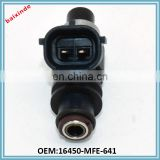 Auto spare parts car fuel injector nozzle OEM 16450-MFE-641 16450MFE641 china wholesale