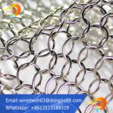 stainless steel Decorative ring metal mesh for ceiling